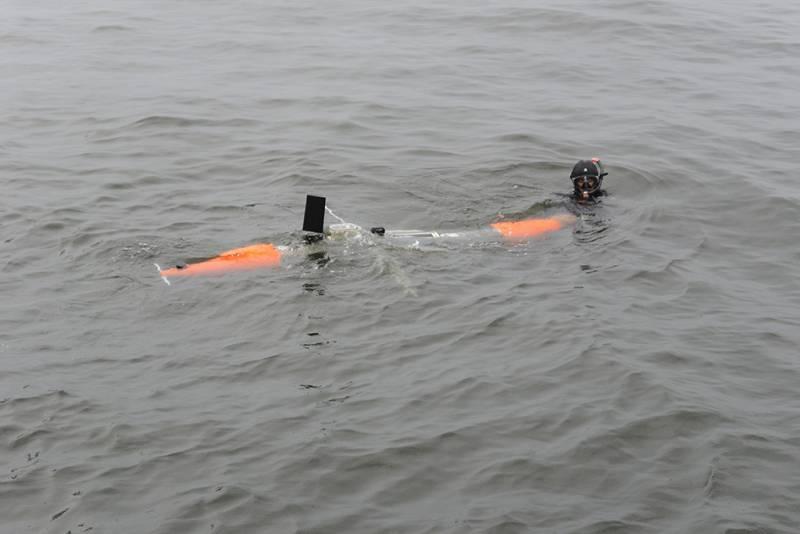 Испытания глайдера на открытой воде