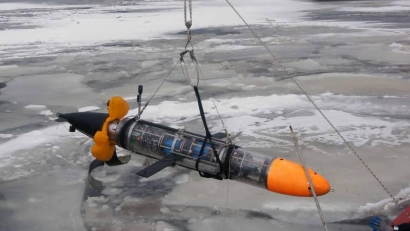 Испытания глайдера в условиях ледовой обстановки