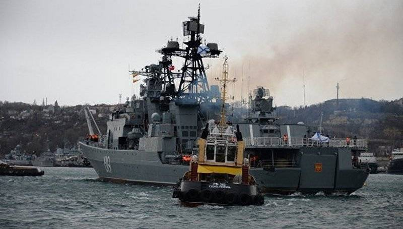 BPC Severomorsk left Sevastopol and headed for the Mediterranean Sea
