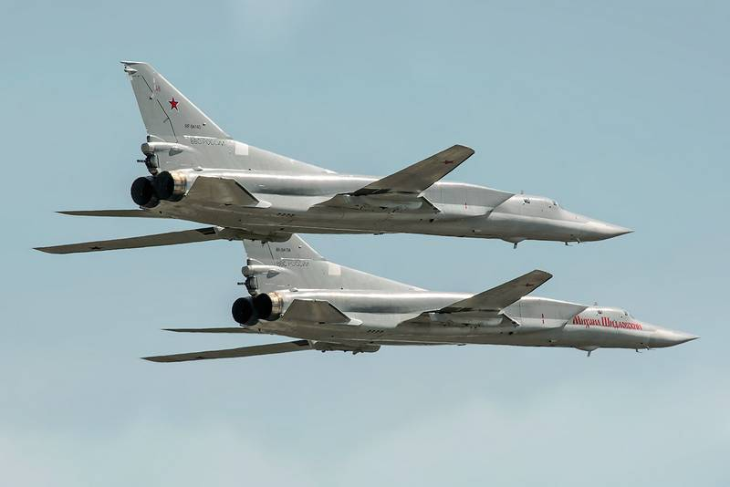 a Pair of Tu-22M3 conducted a flight over the Black sea
