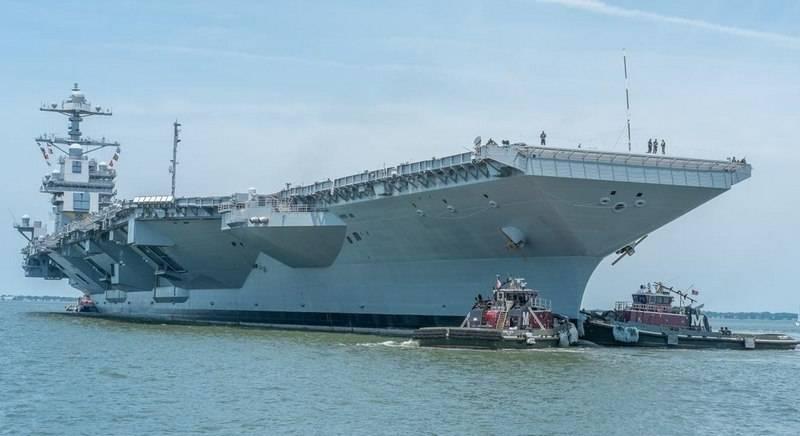 O mais novo porta-aviões da Marinha dos EUA Gerald R. Ford quebrou novamente