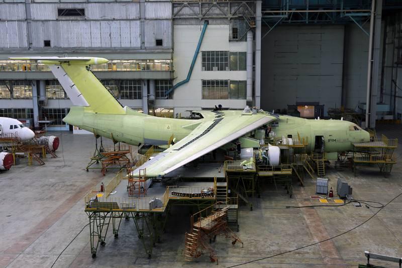 Linha de montagem automatizada da aeronave IL-76MD-90A será lançada no verão