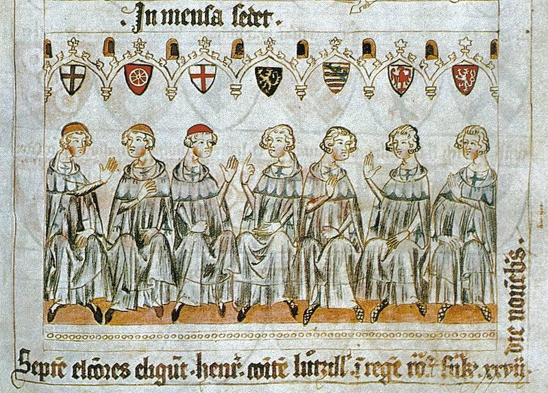 Cavaleiros e cavalaria de três séculos. Parte do 8. Cavaleiros do Sacro Império Romano