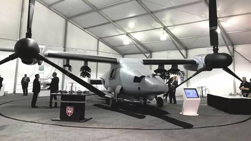 Многоцелевой американский конвертоплан Bell V-247 Vigilant