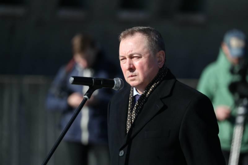 Глава МИД Белоруссии призвал Россию перестать заниматься болтовнёй