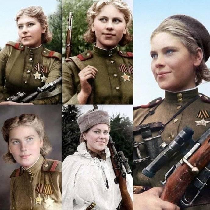 Красавица Роза Шанина. Снайпер