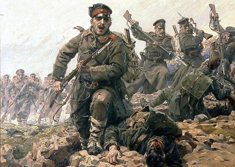 वर्ष 1913। एड्रियानोपल। बल्गेरियाई और सर्बियाई सेनाओं की जय