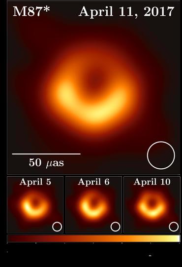 Аккреционный диск чёрной дыры в галактике Messier 87 (EHT)