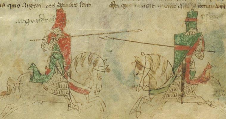 तीन शताब्दियों के शूरवीर और शिष्टता। 11 का हिस्सा। इटली 1050-1350 के शूरवीर।
