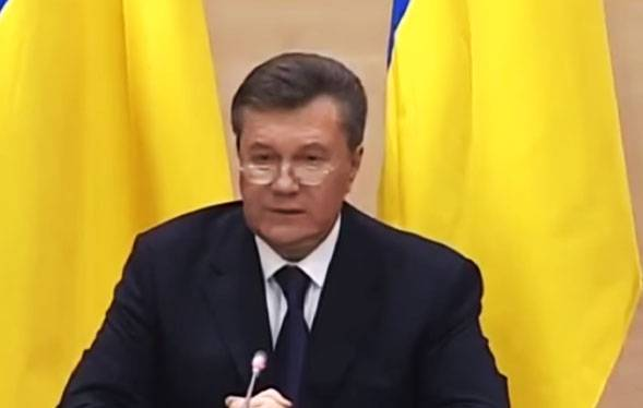 the Stated intention of Yanukovych to return to Ukraine