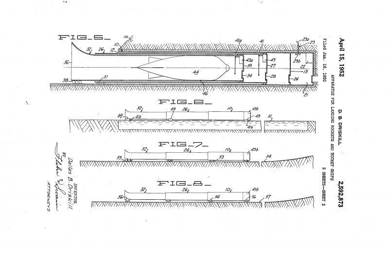 Труба для ракеты. Проект посадочного комплекса Д.Б. Дрискилла (США)