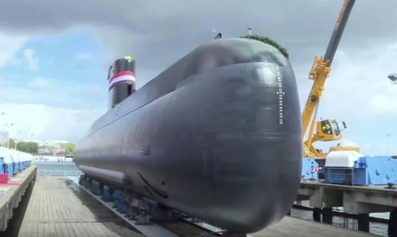 जर्मनी में, मिस्र की नौसेना के लिए तीसरी पनडुब्बी का शुभारंभ किया