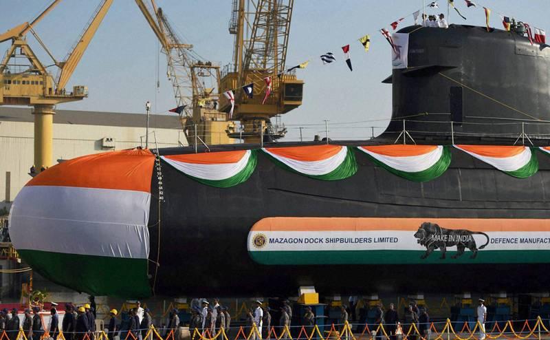 인도 해군 용 네 번째 전갈 잠수함