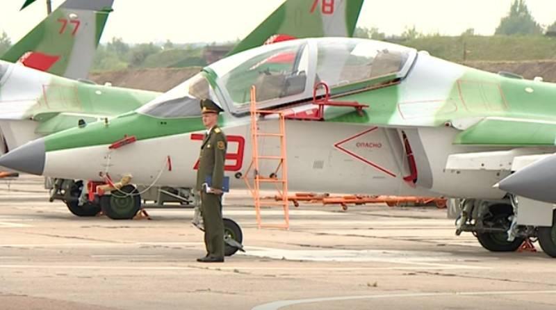 Belarus recebeu mais quatro treinamento de combate Yak-130