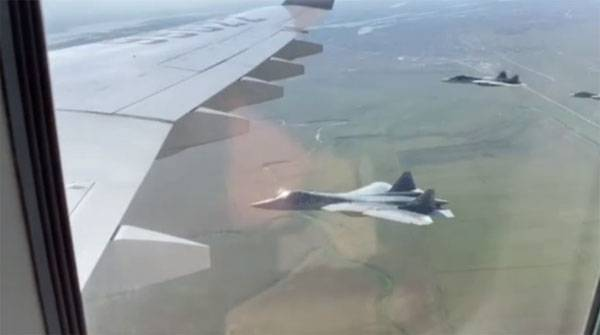 In China, claimed that advertising su-57 Putin had to sit in a fighter plane