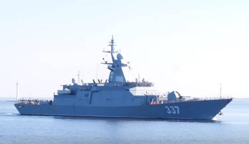 "Corvette ""Rattling"" frigate ""Admiral Kasatonov"" continued running tests"