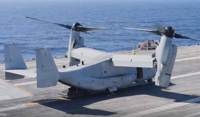 Convertiplane MV-22 Osprey USMC will be equipped with reconnaissance drones