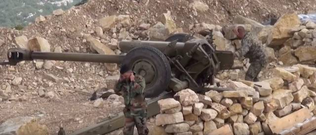 Syrian army inflicted artillery strike on violating the truce the militants