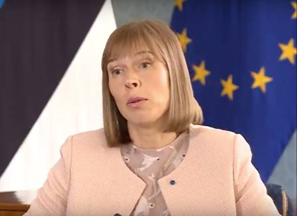 Estonian President protesting against the return of Russia to the Council of Europe