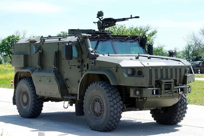 """Минобороны показало новый бронеавтомобиль К-4386-ПВО """"Тайфун-ПВО"""""""