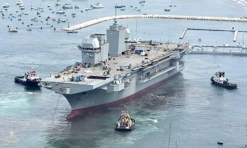 В Италии спущен на воду новый УДК L 9890 Trieste для ВМС страны