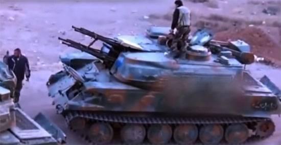 """Заявлено об уничтожении израильской авиацией ЗСУ """"Шилка"""" сирийской армии"""