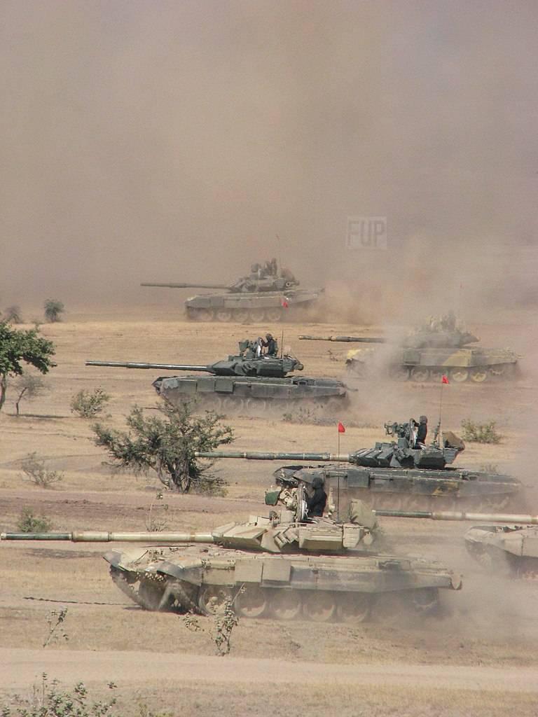 Танки Т-90С. Бронированный кулак индийской армии