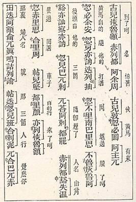 मंगोल टाटारों के बारे में चीनी स्रोत