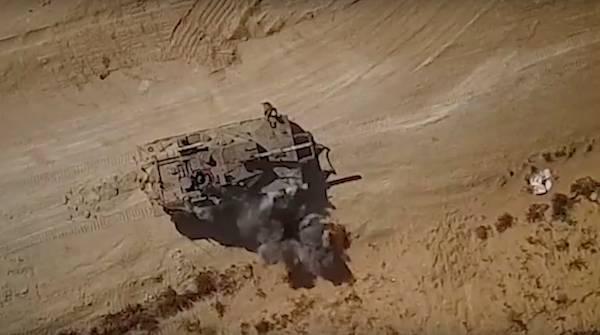 Опубликовано видео атаки БПЛА на танк «Меркава»