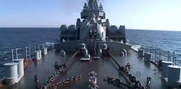 "Ракетный крейсер ""Москва"" поставлен на стенд размагничивания"