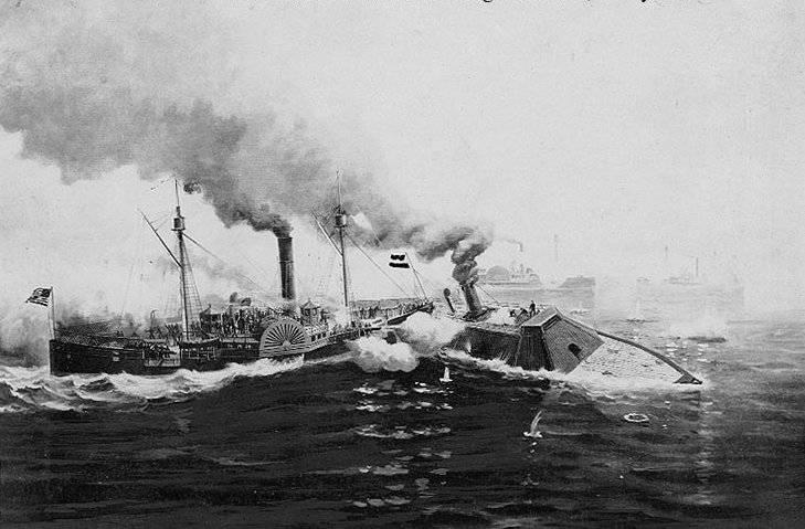 Один против эскадры. Как броненосец «Албемарл» громил флот северных штатов