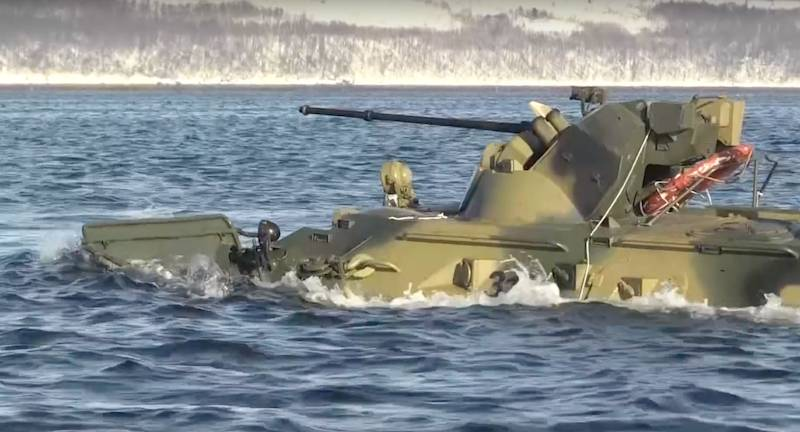 On the Baltic fleet marine drowned along with BTR