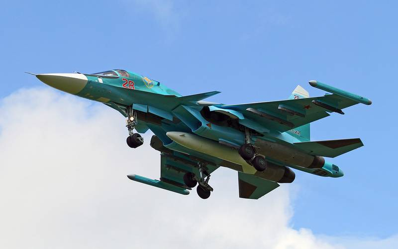Three upgraded su-34 bombers entered the regiment in the Urals