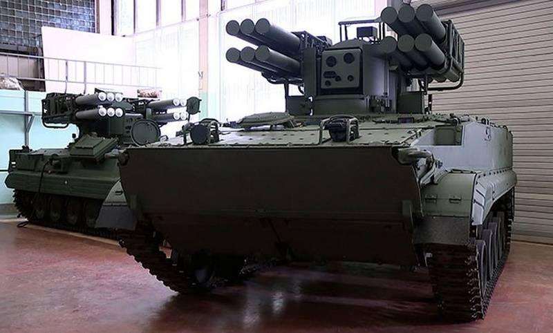 """O mais novo sistema de defesa aérea de curto alcance """"Pine"""" entrará em uma série no chassi BMP-3"""