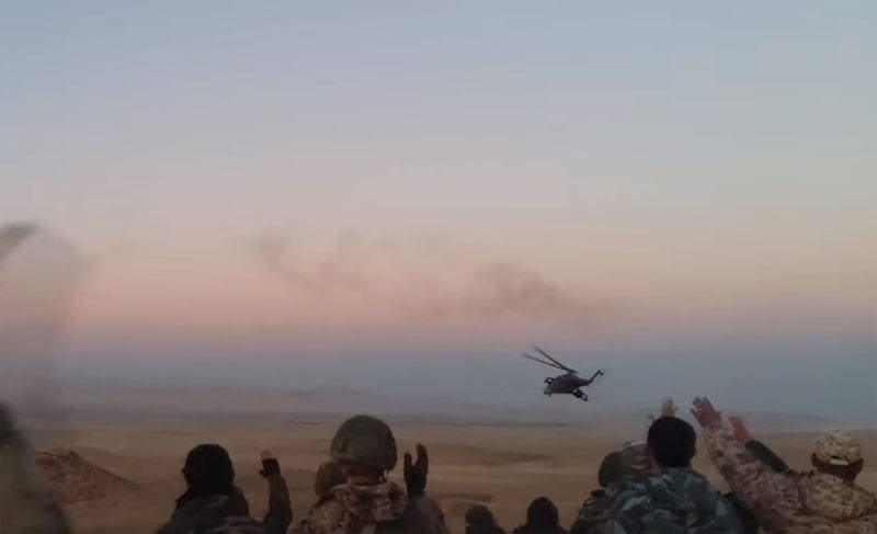 «Огневая карусель» российских вертолетов в Сирии попала на видео