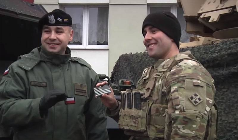Us military in Poland, located near the border with Belarus