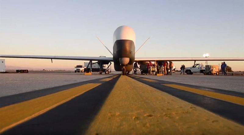 Das Pentagon räumte den Verlust von UAV MQ-4C Triton über der Straße von Hormuz ein