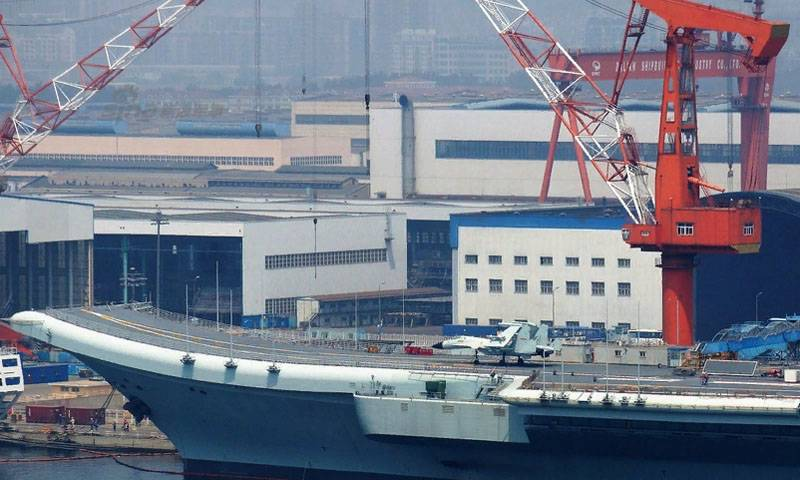 share photos with equipping the Chinese carrier