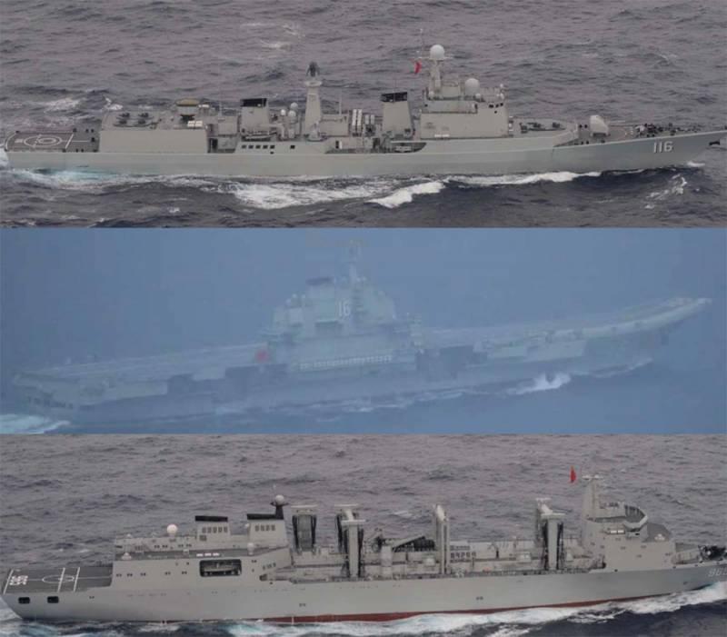 Авианосная группа ВМС Китая прошла неподалёку от Окинавы