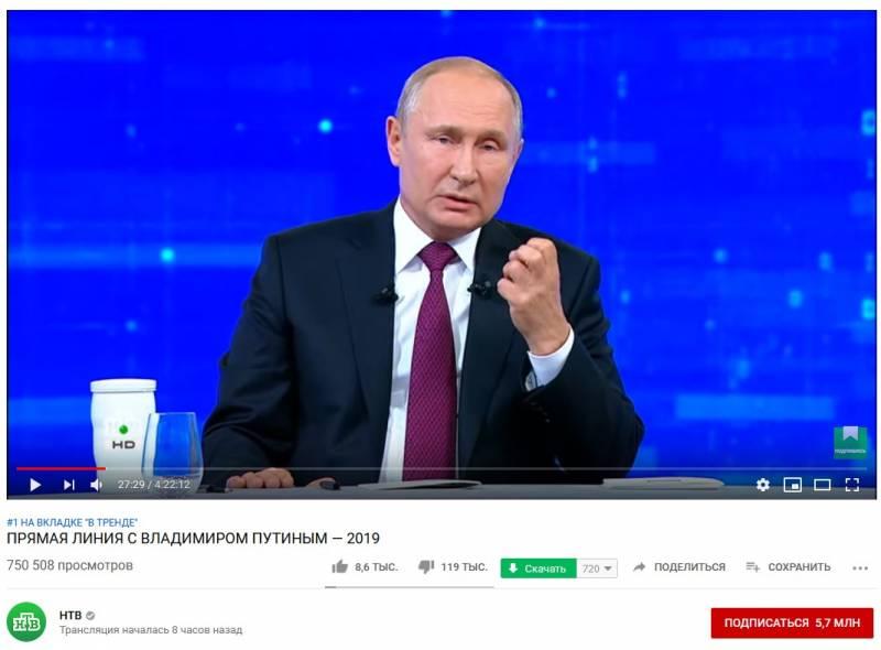 """""""Прямая линия"""" Владимира Владимировича"""