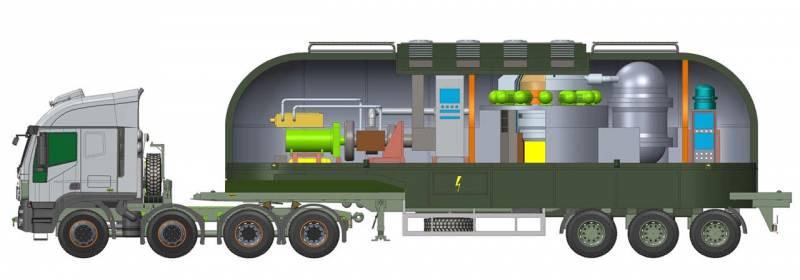 Представлены проекты ядерных реакторов на автомобильном шасси
