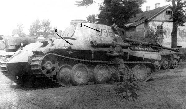 """T-V """"Panther"""". A little more about the """"cat panzerwaffe"""""""