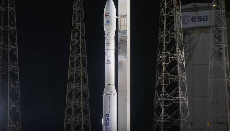 rocket Launch vehicle Vega with the satellite intelligence UAE ended in a crash