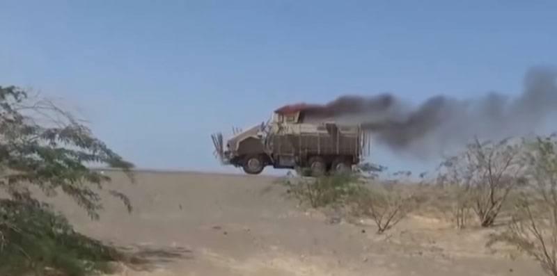 यह दिखाया गया है कि किस तरह कवच ने सऊदी सेना को हुसैइट एटीजीएम से बचाया