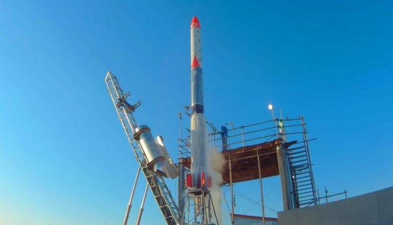 ВЯпонии личная ракета после запуска упала вморе
