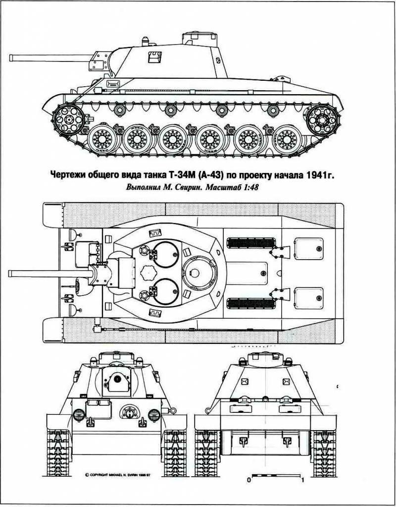 USSR में 1942-1943 में मध्यम टैंकों का विकास। टी 43