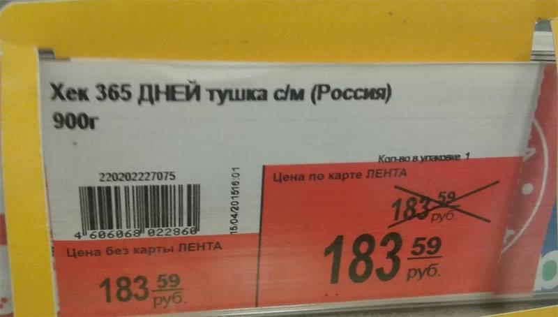 Росстат заявил о снижении цен в России
