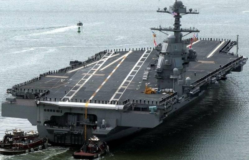 """ABD Donanması'nın en yeni uçak gemisi """"Gerald Ford"""" yine sorunları"""