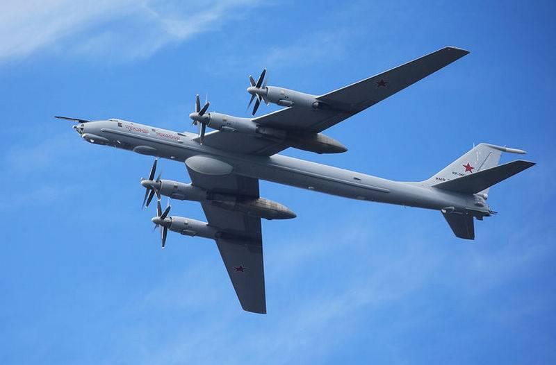 Ein U-Boot-Abwehrpaar Tu-142 flog über die Aleuten und Alaska