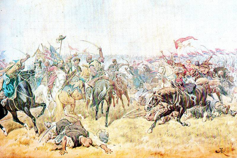 the defeat of the Polish army under Zboriv